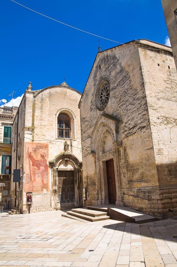 Church of St. Nicolò dei Greci. Altamura. Puglia. Italy. Perspective of the Church of St. Nicolò dei Greci. Altamura. Puglia. Italy royalty free stock image