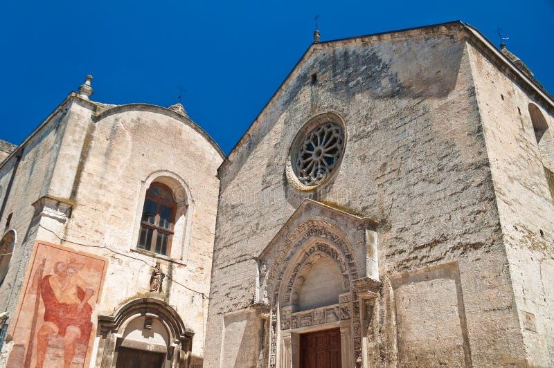 Church of St. Nicolò dei Greci. Altamura. Puglia. Italy. Perspective of the Church of St. Nicolo dei Greci. Altamura. Puglia. Italy stock photo
