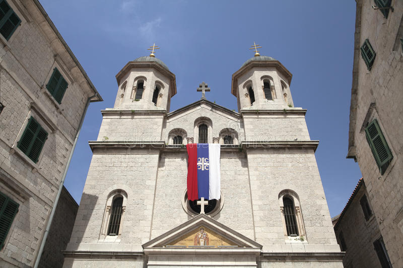 Church of St Nicolas in Kotor. Montenegro royalty free stock images