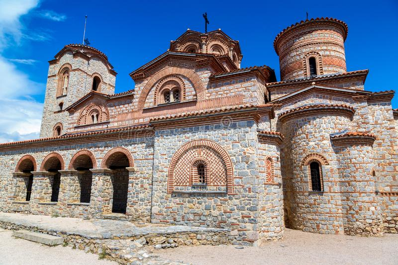 Church of St. Panteleimon in Ohrid. In a beautiful summer day, Republic of Macedonia stock image