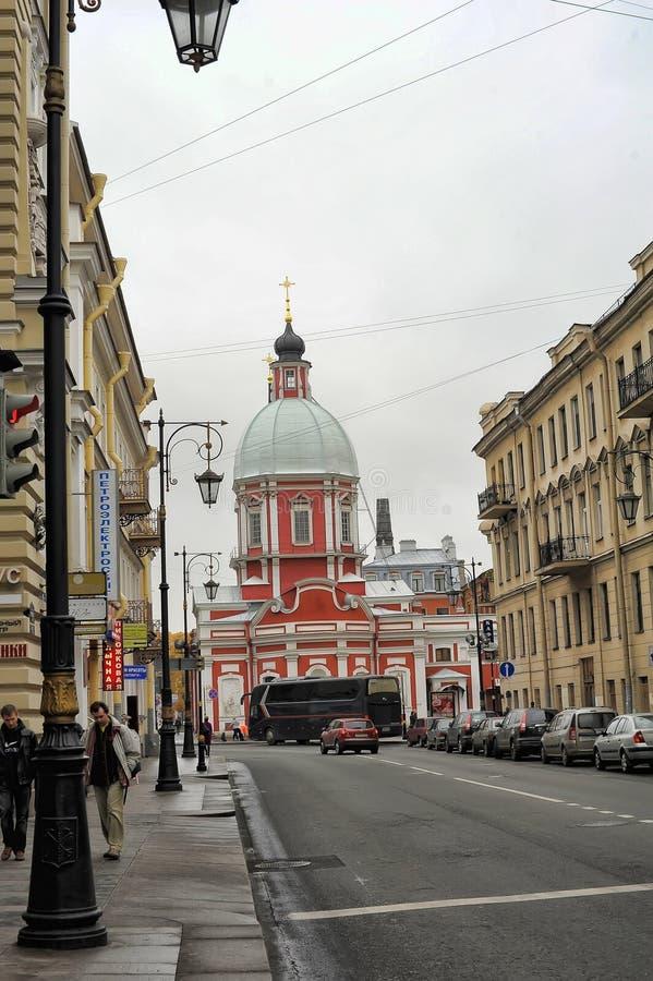 The Church of St. Panteleimon on the Pestel street. Russia, St. Petersburg, 11,10,2013 The Church of St. Panteleimon on the Pestel street stock photo