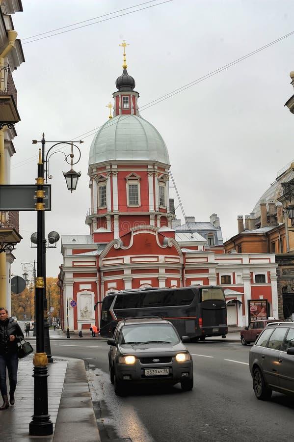 The Church of St. Panteleimon on the Pestel street. Russia, St. Petersburg, 11, 10, 2013 The Church of St. Panteleimon on the Pestel street stock photo