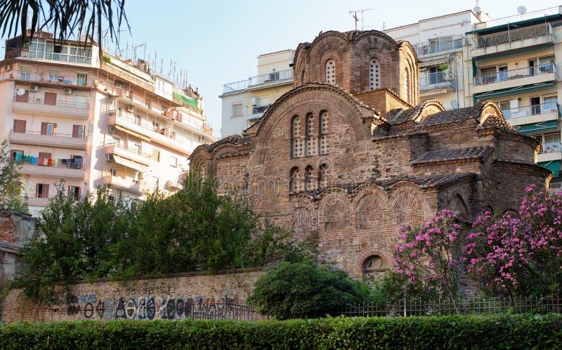 The Church of St. Panteleimon in Thessaloniki. The ancient temple of St. Panteleimon in Thessaloniki stock photos