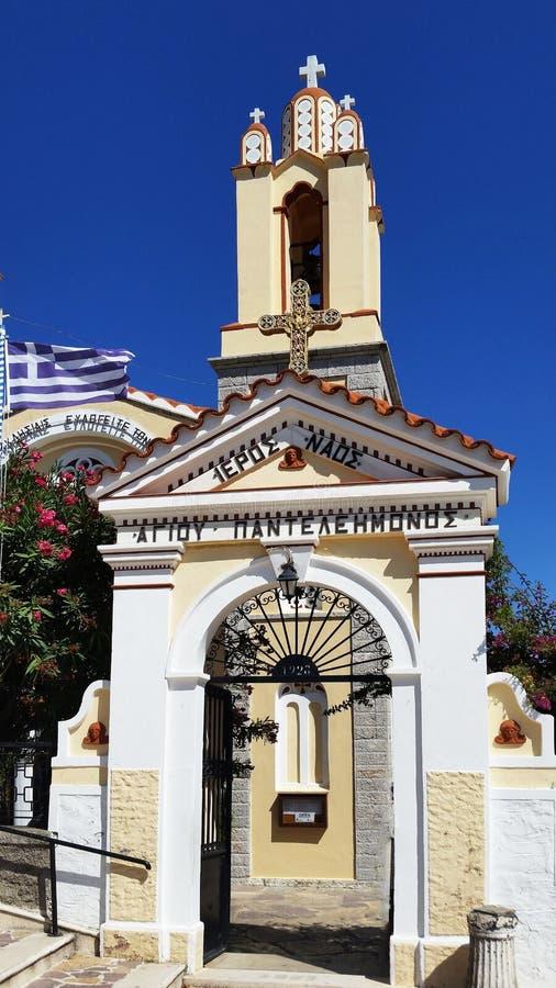 Church of St. Panteleimon in XI`an. Rhodes. Greece.  stock photo