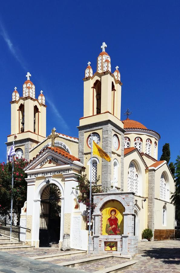 Church of St. Panteleimon in XI`an. Rhodes. Greece.  royalty free stock photography