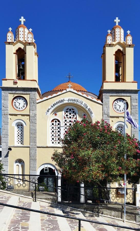 Church of St. Panteleimon in XI`an. Rhodes. Greece.  stock photos