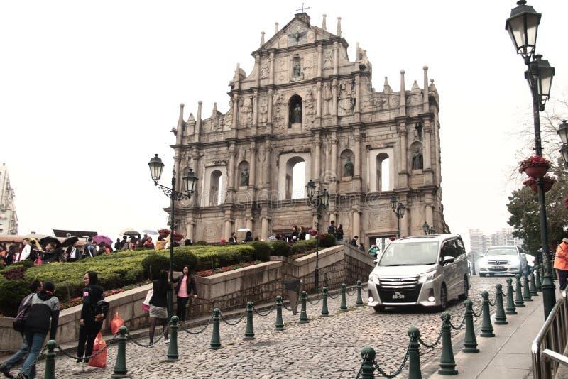 Church of St.Paul in Macau. St.Paul in Macau stock image