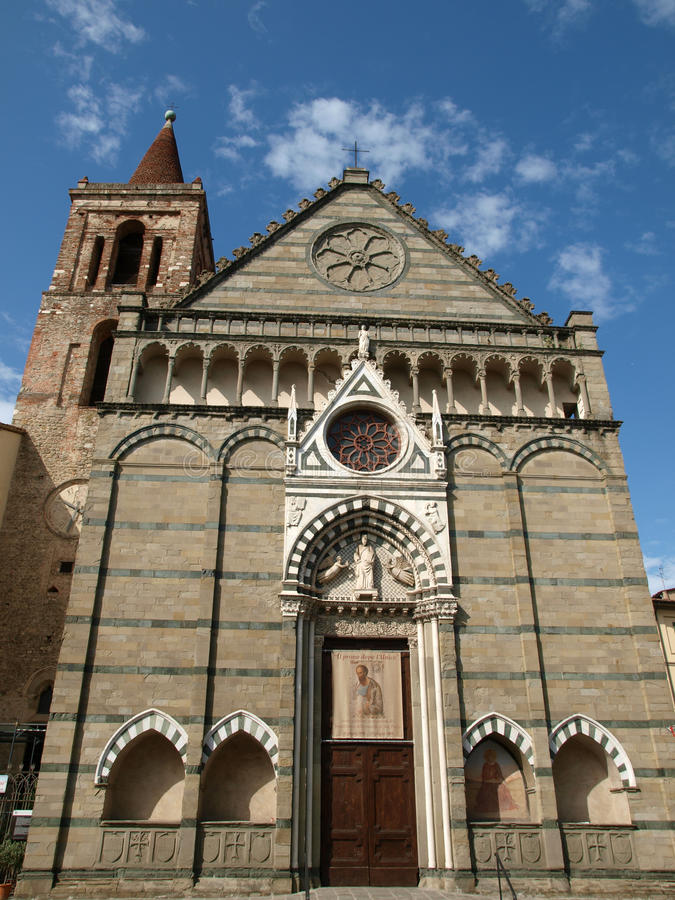 Church of St Paul - Pistoia. Facade church of St Paul - Pistoia Tuscany Italy stock images