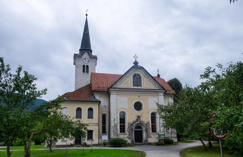 Church of St. Peter and Paul. Osilnica. Slovenia stock photos