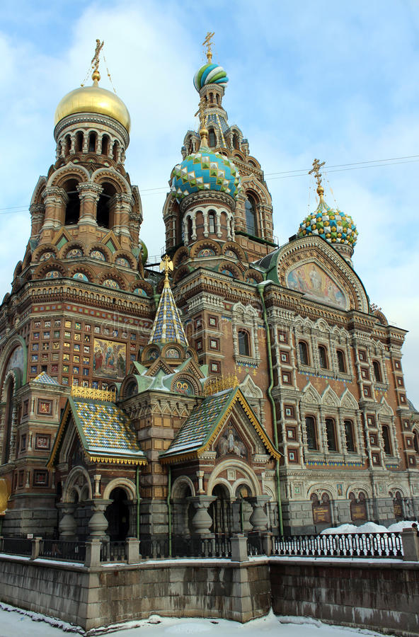 Church in St. Petersburg, Russia stock images