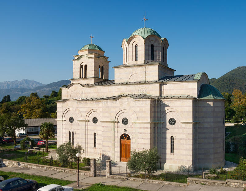 Church of St. Sava. Tivat, Montenegro royalty free stock images