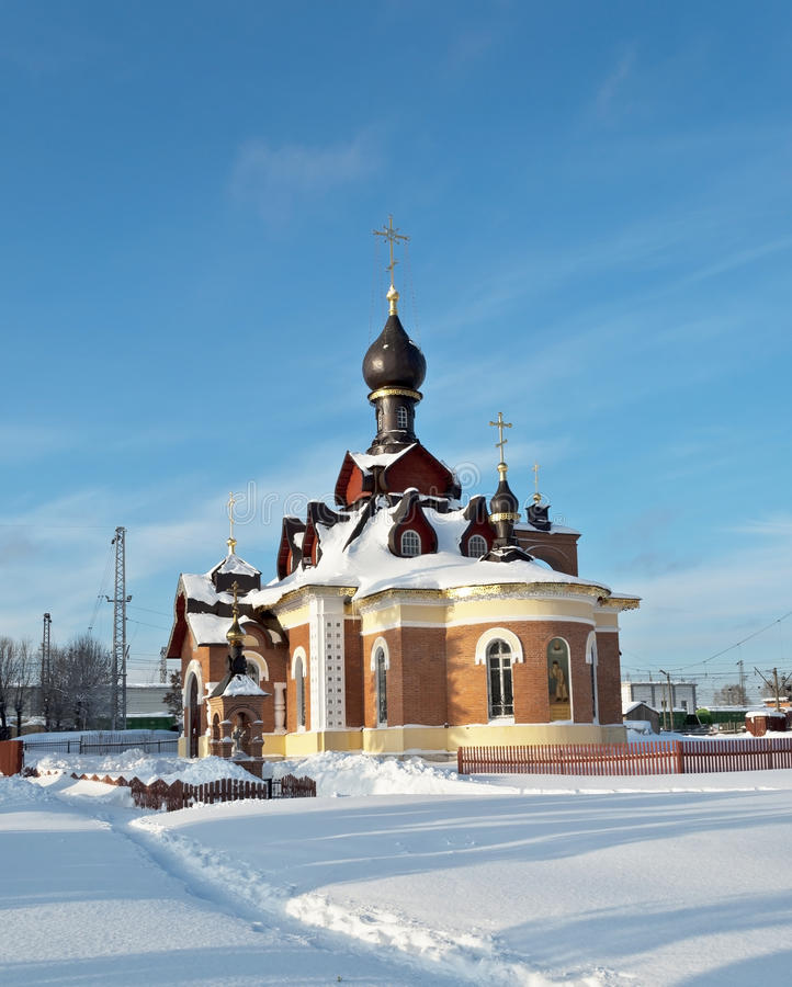 St. Seraphim of Sarov church in Aleksandrov royalty free stock images