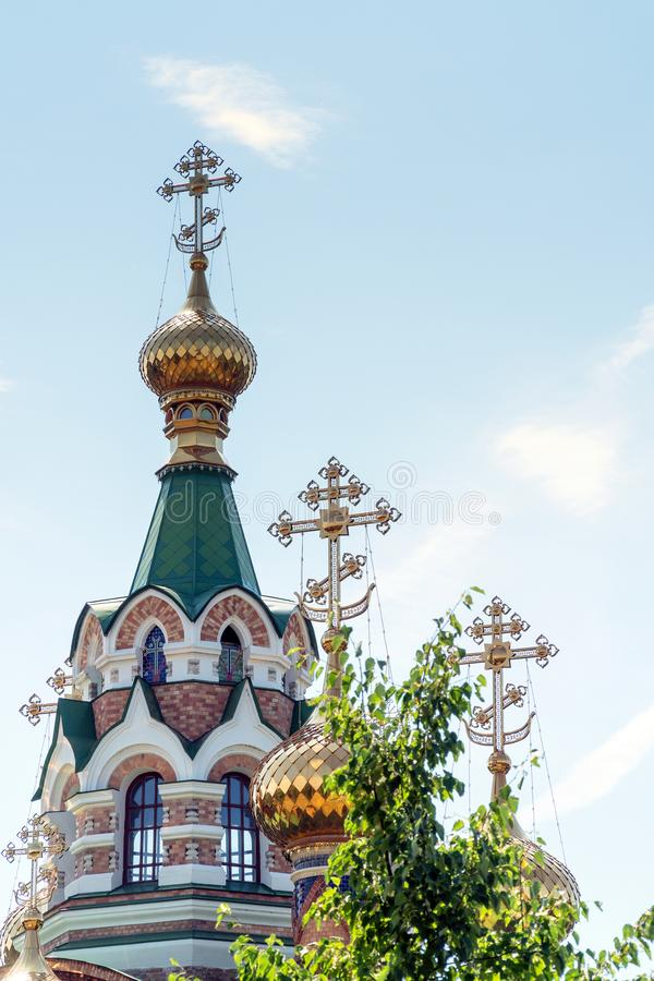 Church of St. Sergius of Radonezh in Chapaevsk royalty free stock photos