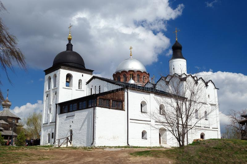 Church of St. Sergius of Radonezh in Sviyazhsk is made in the old pskov style stock photos