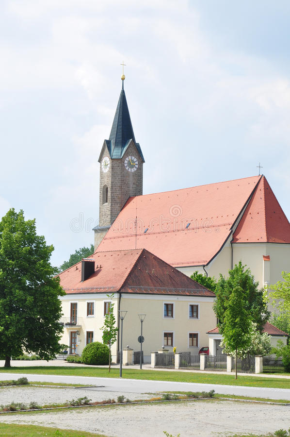Church St. Simon and Judas Thadd�us in Moos (Kurzenisarhofen), Bavaria. Colorful and crisp image of church St. Simon and Judas Thadd�us in Moos ( stock image