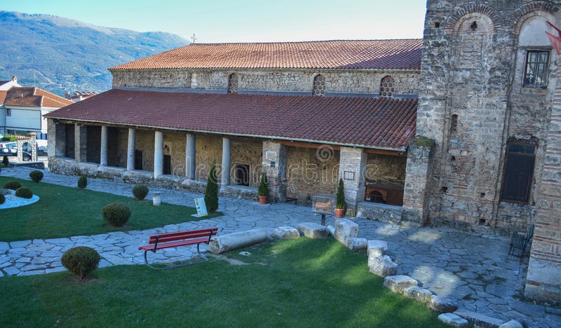 Church St.Sophia in Ohrid. The church of Saint Sophia is among the most important and architectually greatest holy buildings in Macedonia royalty free stock photos