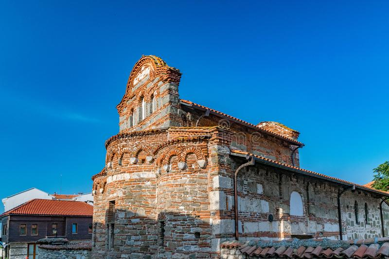 Church of St Stephen in Nessebar ancient city on the Bulgarian Black Sea Coast. Nesebar or Nesebr is a UNESCO World Heritage Site. A Byzantine architecture old royalty free stock photos