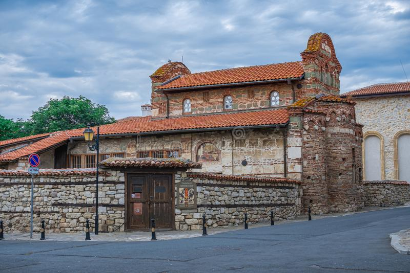 Church of St Stephen in Nessebar, Bulgaria. Nessebar, Bulgaria – 07.10.2019.  Church of St Stephen in the old town of Nessebar, Bulgaria, on a cloudy royalty free stock images