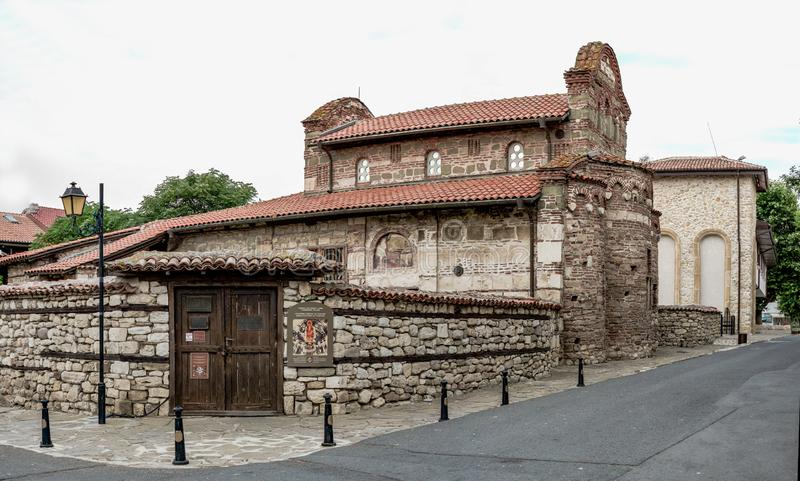 Church of St Stephen in Nessebar, Bulgaria. Nessebar, Bulgaria – 07.10.2019.  Church of St Stephen in the old town of Nessebar, Bulgaria, on a cloudy royalty free stock photos