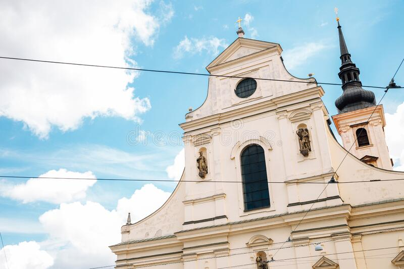 Church of St. Thomas in Brno, Czech Republic. Europe royalty free stock photography