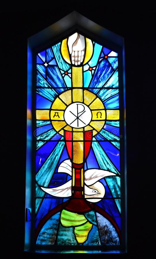 Church stained glass stock images