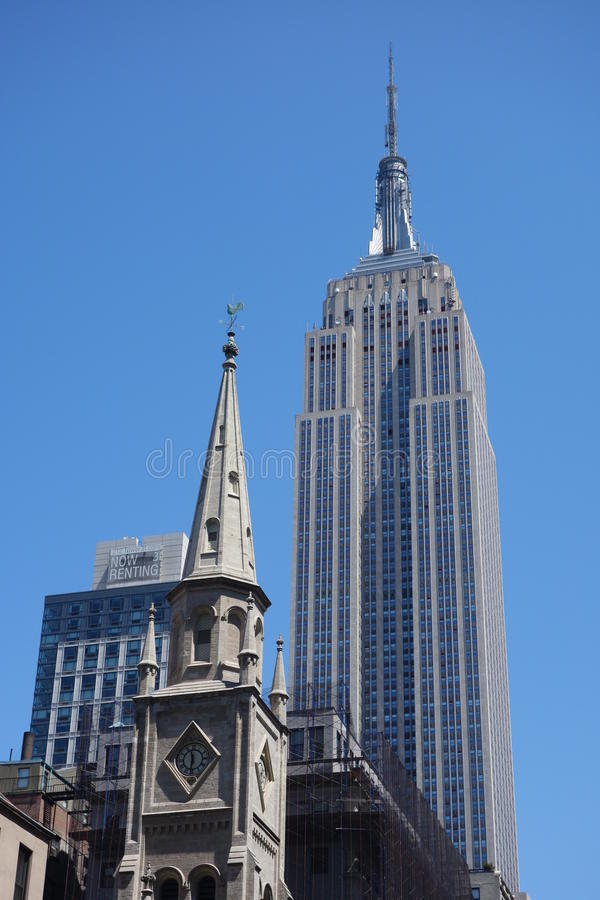 Church and State in New York City stock photos