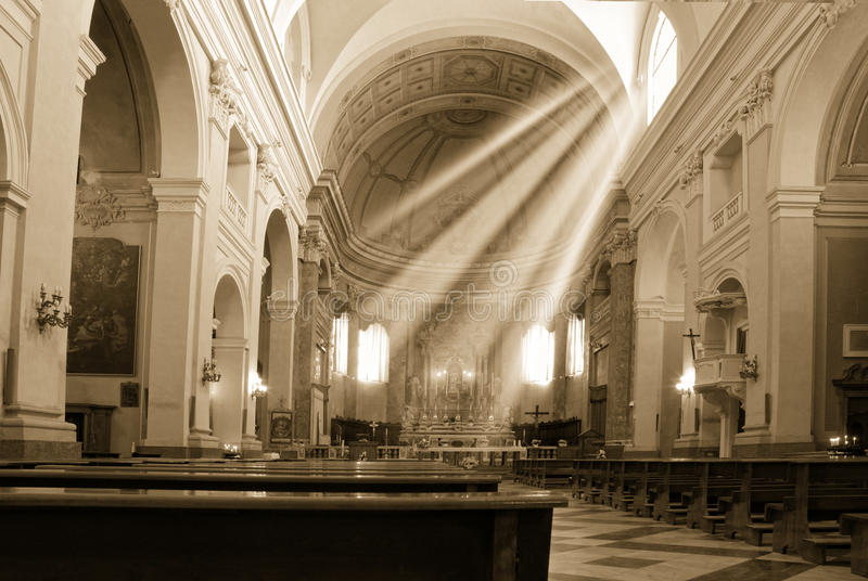 Church and sun beam royalty free stock image