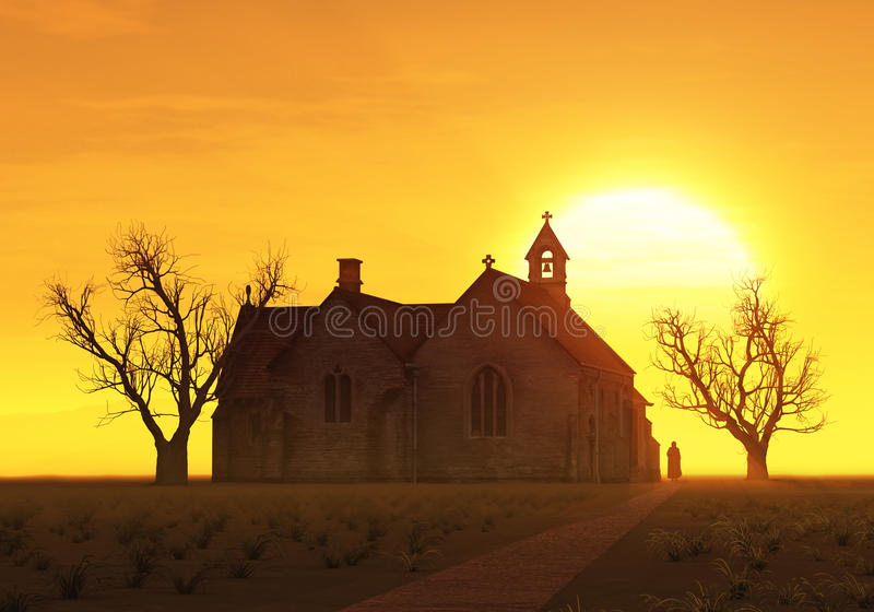 Download Church at sunrise stock photo. Image of monk, church - 18476098