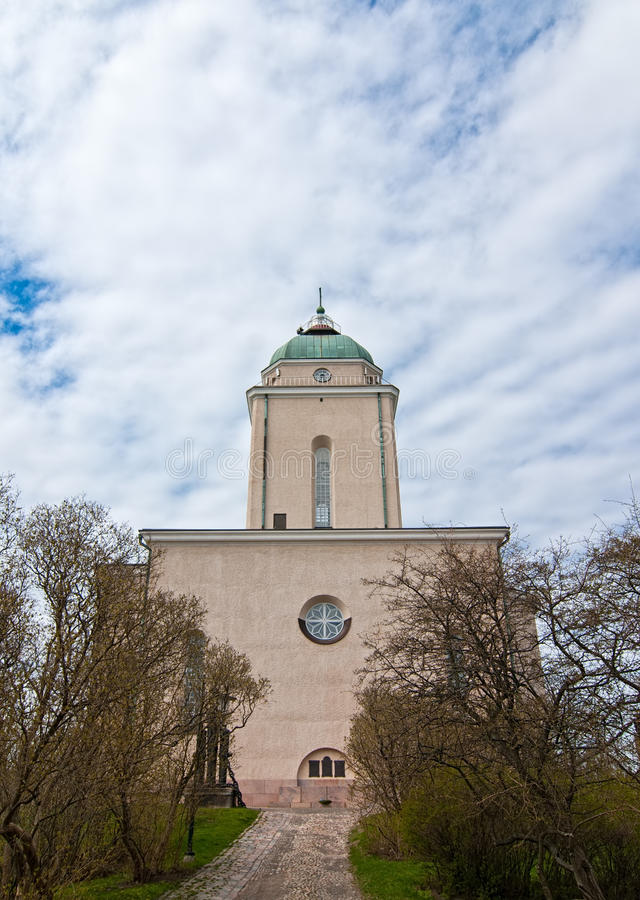 The Church of Suomenlinna stock image