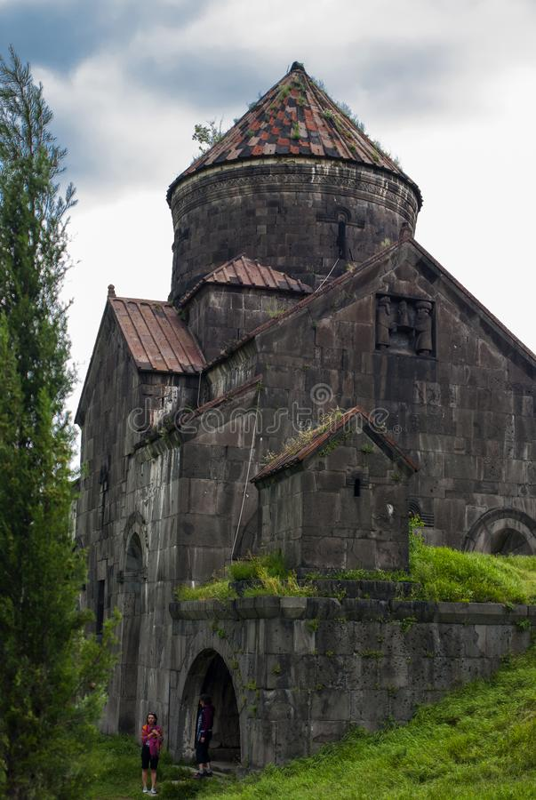 The Church of Surp Nshan at Haghpat Monastery, Armenia. The location of Haghpat Monastery was chosen so that it overlooks the Debed River in northern Armenia`s stock photography
