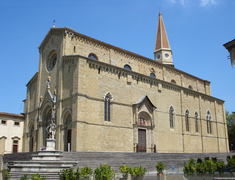 Cathedral of San Donato in Arezzo in Italy. royalty free stock images