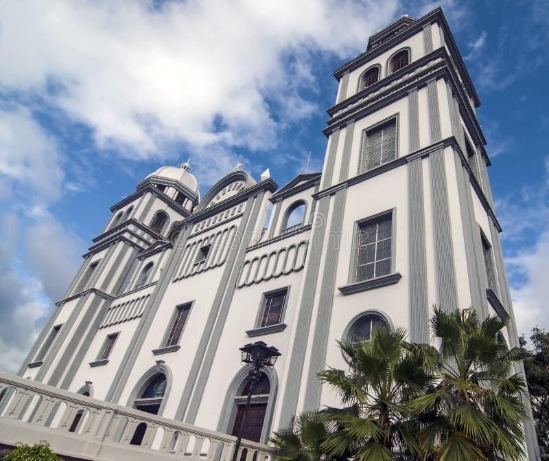Church of Suyapa, Honduras. Low Wide View of the Church of Suyapa at Tegucigalpa, Honduras stock images