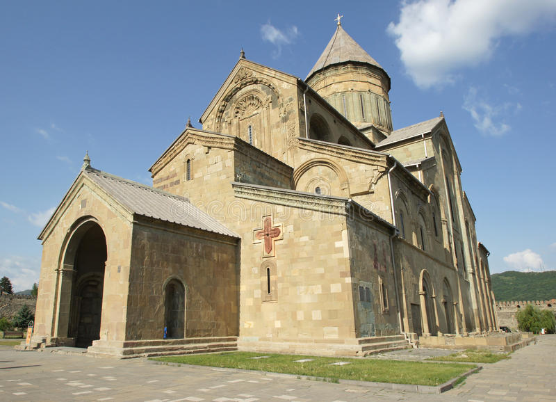 Church Sveti Zchoweli, Mzcheta, Georgia royalty free stock images