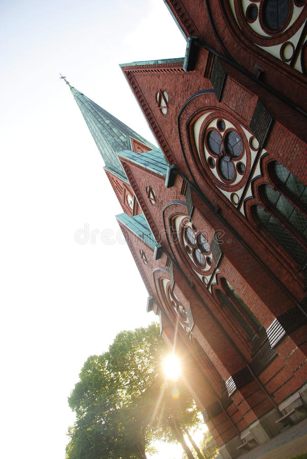 Church in Sweden stock photo