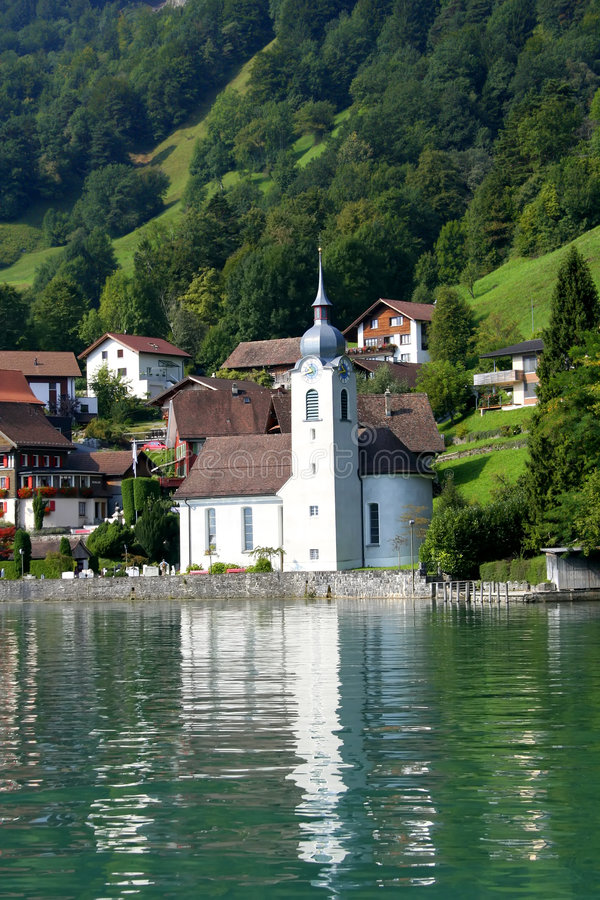 Church in switzerland royalty free stock photo