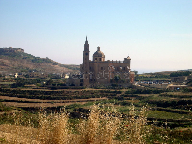 Church of Ta Pinu, Gozo, Malta royalty free stock photos