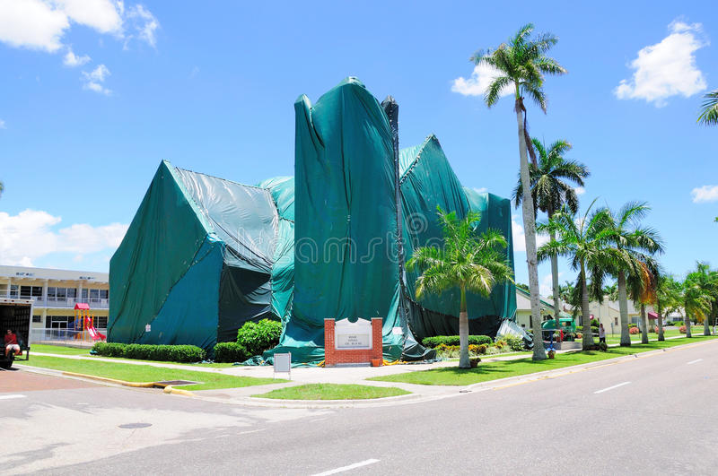 Download Church Tented For Fumigation Stock Image - Image: 14858269