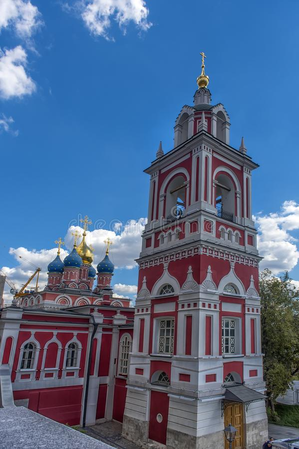 Church of the Theotokos of the Sign Znamensky Monastery in Moscow, Russia royalty free stock photos