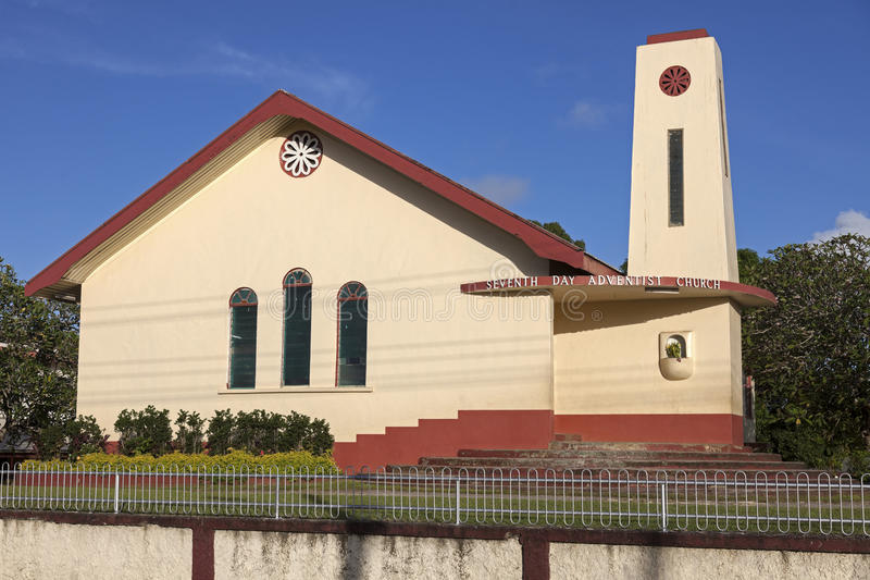 Church in Tonga. Seventh Day Adventist Church in Tonga royalty free stock photography