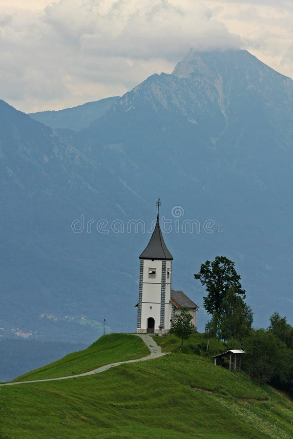 Church On Top Of A Hill Royalty Free Stock Photos