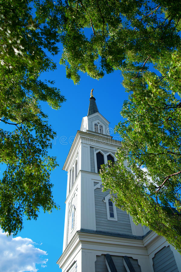 Download Church tower stock image. Image of tree, trees, rural - 25568387