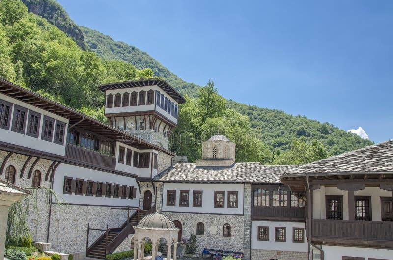 Church Tower - Bigorski Monastery - Macedonia. Bigorski Monastery in Macedonia - St. John Monastery, Mavrovo stock photo