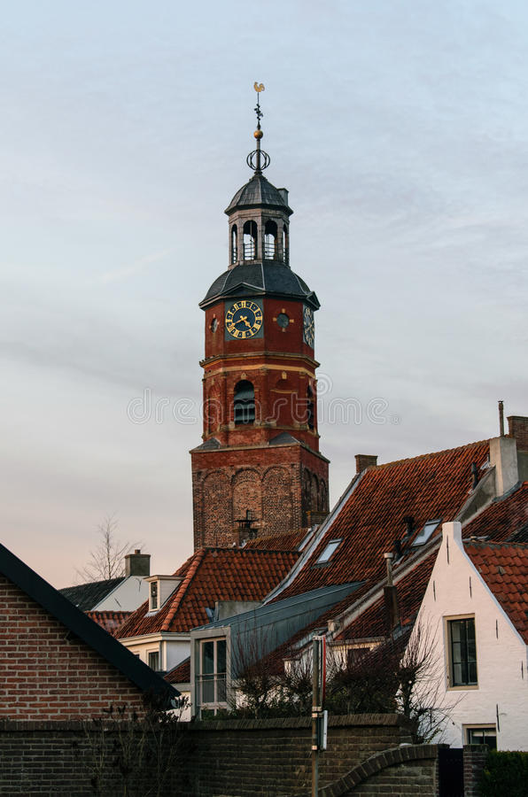 Church tower of Buren, The Netherlands royalty free stock image