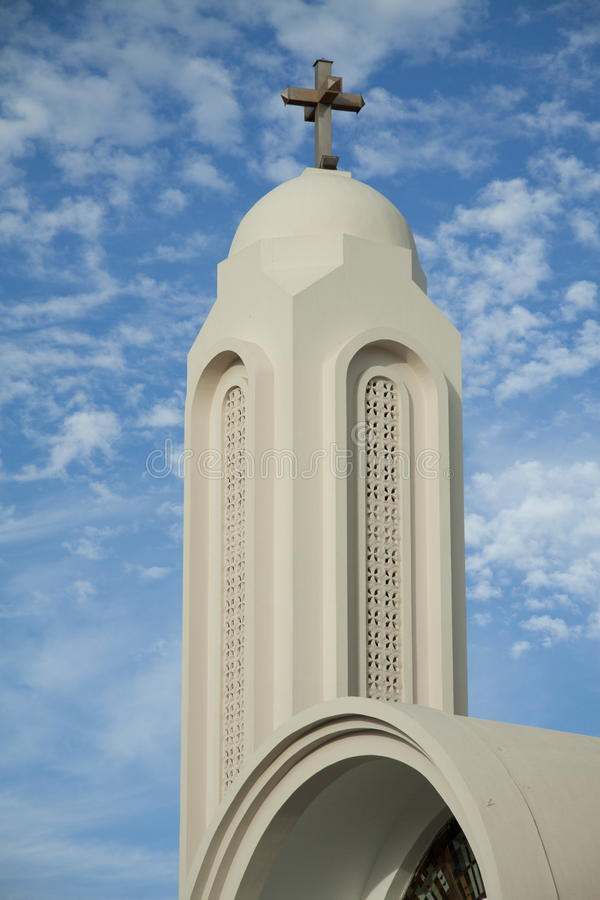 Download Church tower with cross stock photo. Image of cross, structure - 28073080