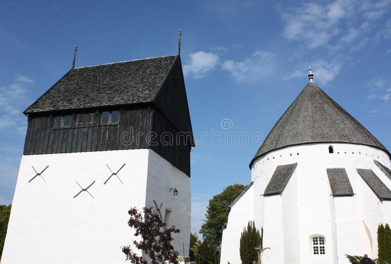 Church and tower stock images