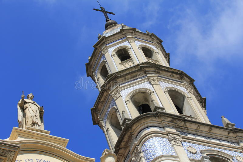 Church tower in San Telmo royalty free stock images