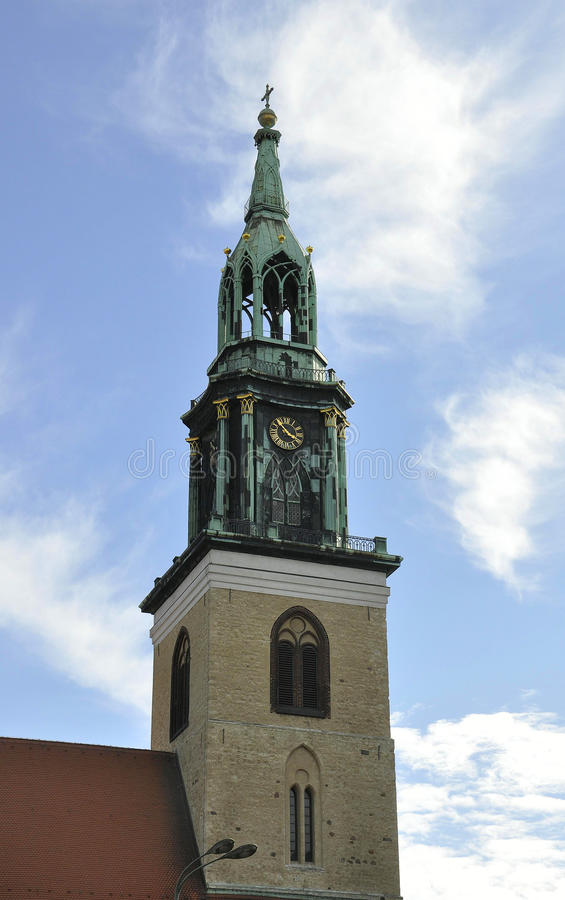 Church Tower in the sky from Berlin in Germany stock images
