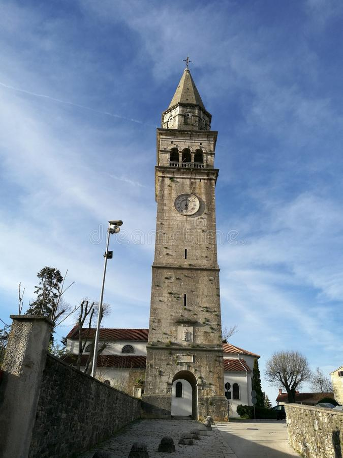 Free Church Tower With Clock Stock Image - 114497711