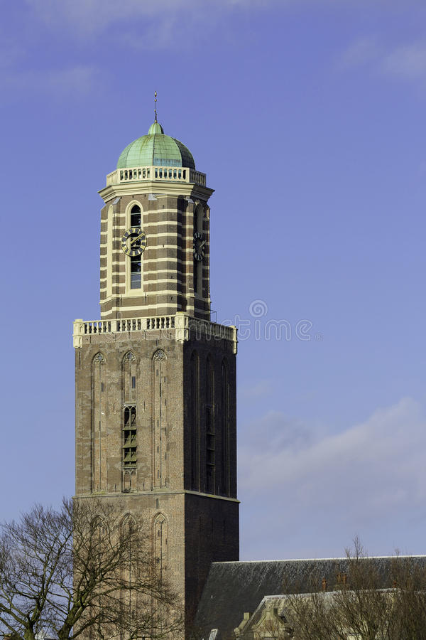 Church tower of Zwolle royalty free stock photos