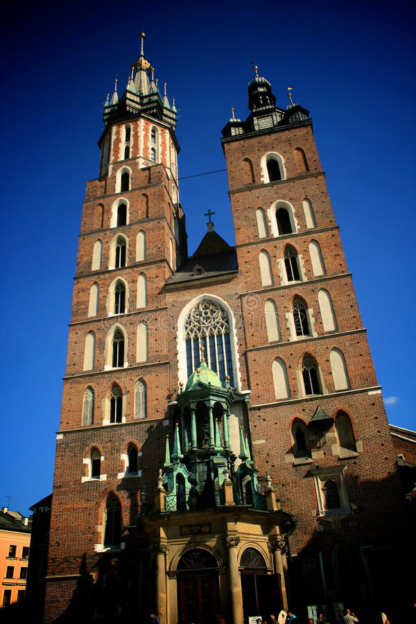Download Church towers in Krakow stock image. Image of tradition - 19847755